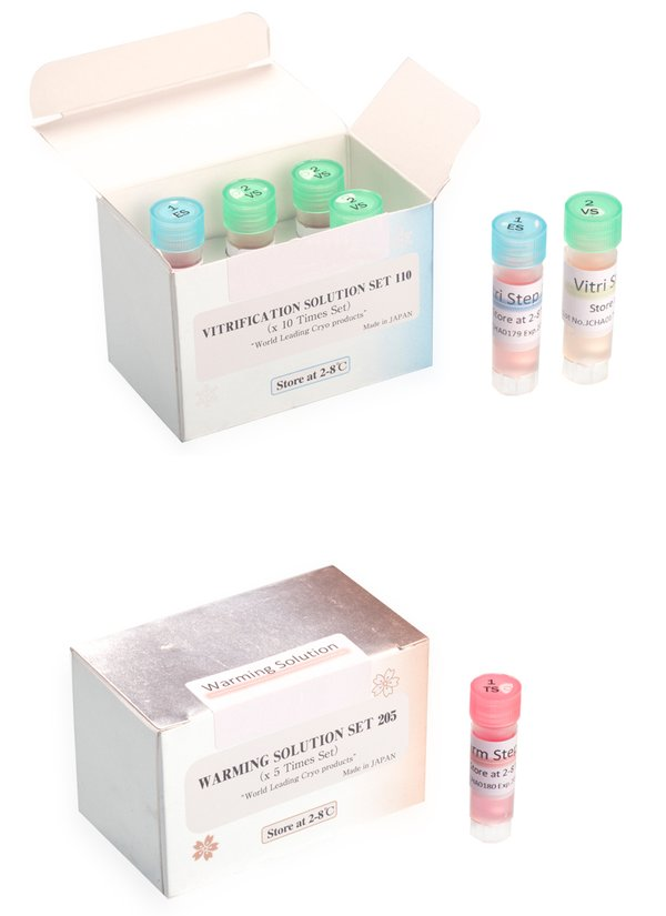 Vitrification and warming solutions